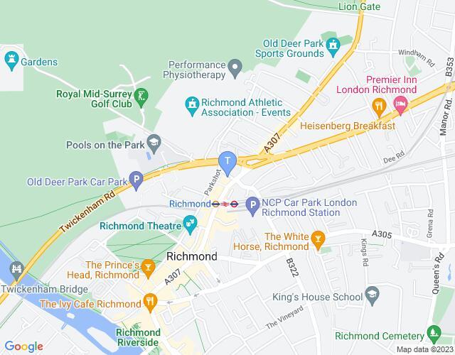 Location map for Orange Tree Theatre