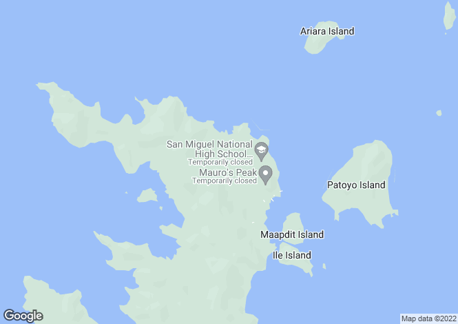 Map for Palawan, Linapacan