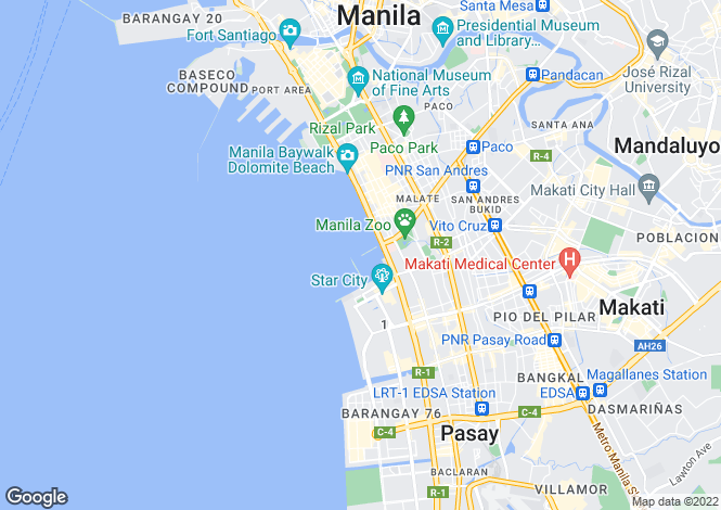 Map for Manila, Manila, Philippines