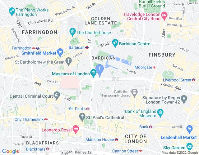 Location map for Shakespeare Schools Festival 2018