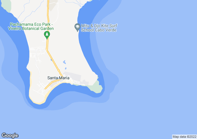 Map for Tortuga Beach & Spa Apartments, Santa Maria, Sal Island, CAPE VERDE