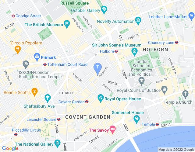Location map for Gillian Lynne Theatre