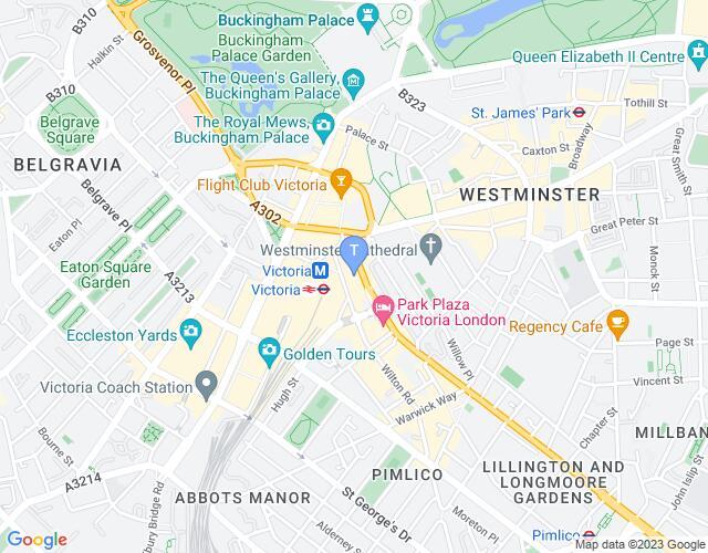 Location map for Apollo Victoria Theatre