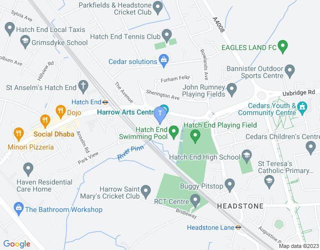 Location map for Harrow Arts Centre