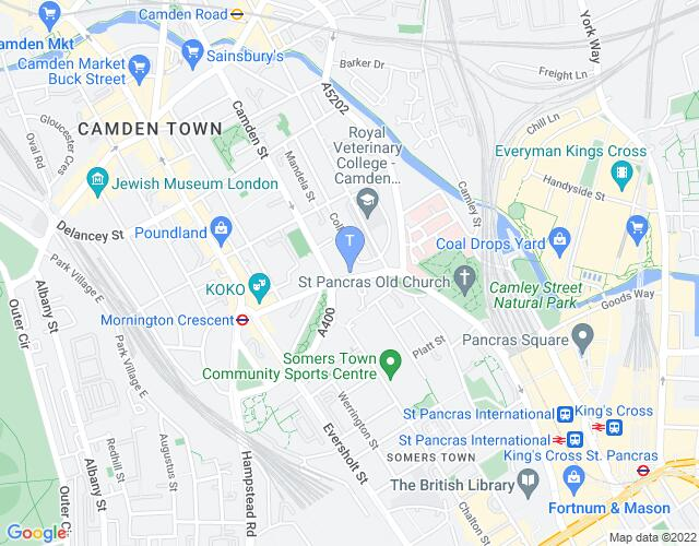Location map for Theatro Technis