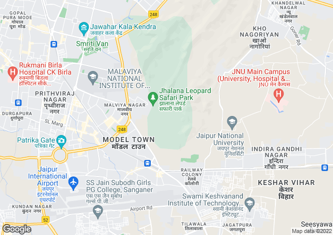 Map for tonk road, jaipur