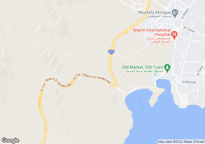 Map for Sharm El Sheikh