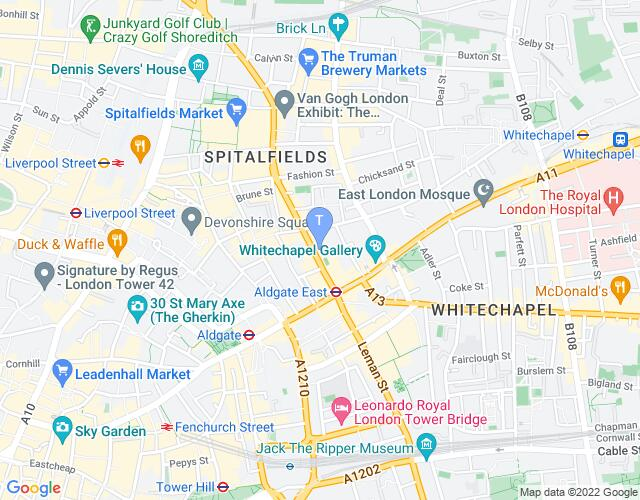 Location map for Arts Admin (Toynbee Studios)