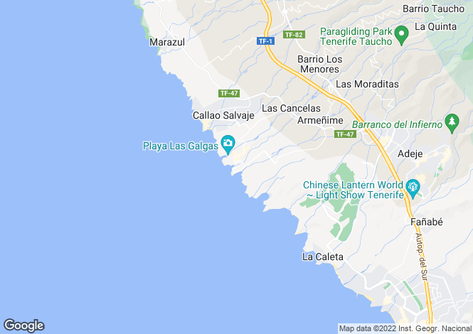 Map for Playa Paraiso, Tenerife, ES