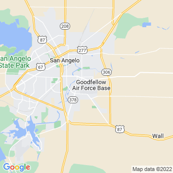 Goodfellow Afb,tx- map, population, zip codes, coutnies, area codes, time zones, households, income, news, weather, metro areas, local time at localistica.com