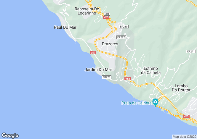 Map for Madeira, Jardim Do Mar