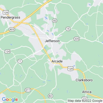 Jefferson,ga- map, population, zip codes, coutnies, area codes, time zones, households, income, news, weather, metro areas, local time at localistica.com