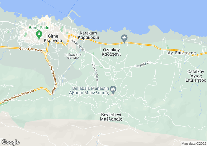 Map for Girne, Ozankoy