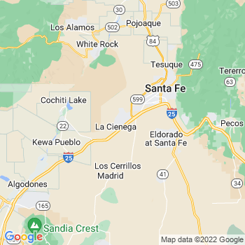 Santa Fe, NM- map, population, zip codes, coutnies, area codes, time zones, households, income, news, weather, metro areas, local time at localistica.com