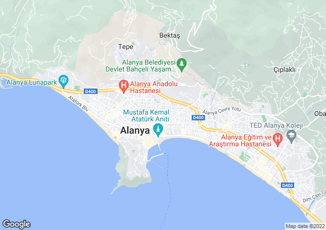 Map for Antalya, Alanya, Alanya