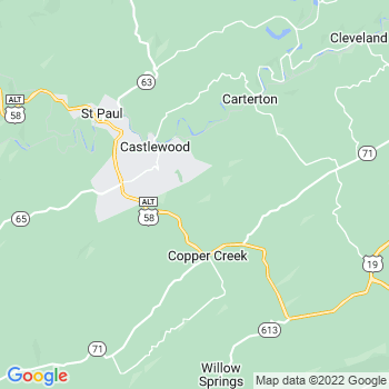 Castlewood,va- map, population, zip codes, coutnies, area codes, time zones, households, income, news, weather, metro areas, local time at localistica.com