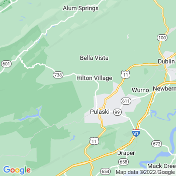 Pulaski,va- map, population, zip codes, coutnies, area codes, time zones, households, income, news, weather, metro areas, local time at localistica.com