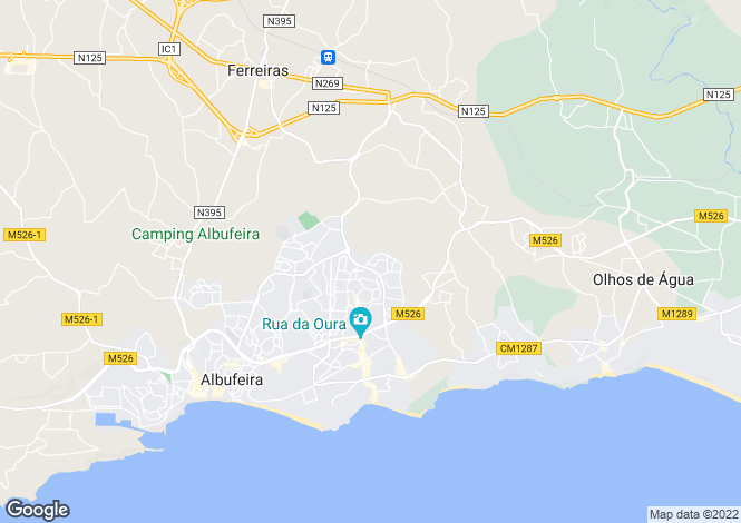 Map for Algarve, Albufeira