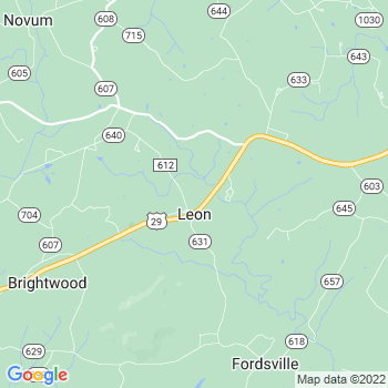 22725 Leon,VA- map, population, zip codes, coutnies, area codes, time zones, households, income, news, weather, metro areas, local time at localistica.com