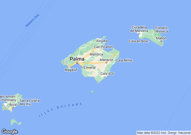 Map for Mallorca, Pollenca, Pollensa