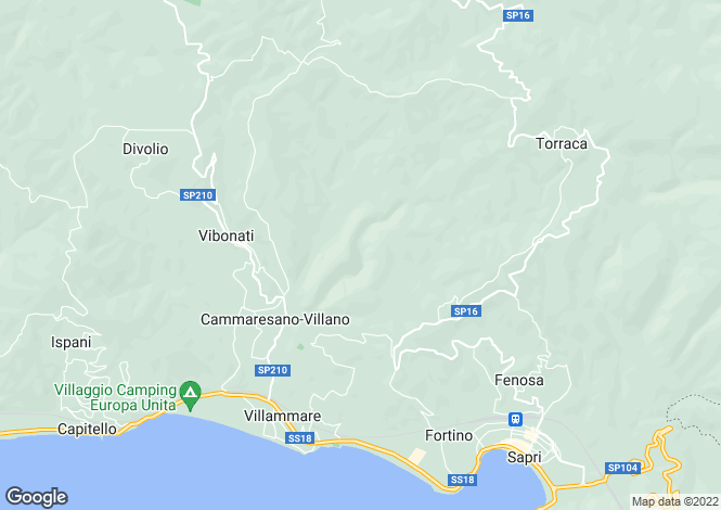 Map for Campania, Salerno, Vibonati
