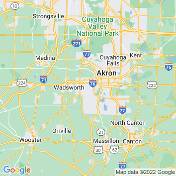 Akron, OH- map, population, zip codes, coutnies, area codes, time zones, households, income, news, weather, metro areas, local time at localistica.com