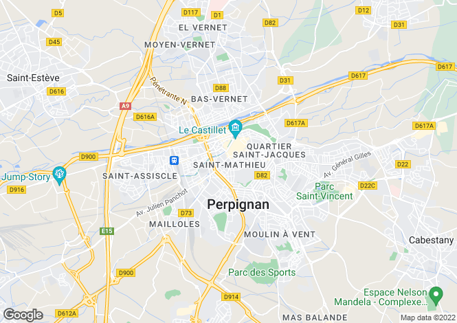 Map for Perpignan, Pyr�n�es-Orientales