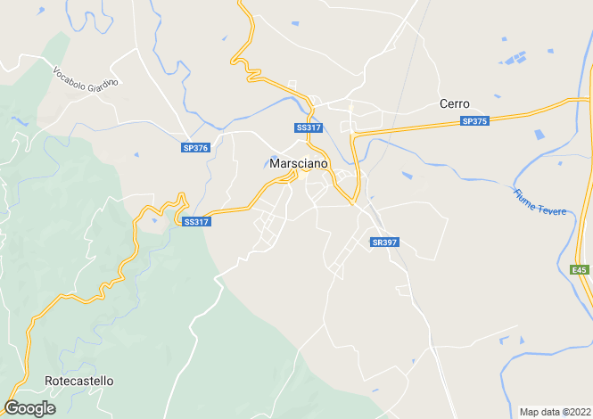 Map for Umbria, Perugia, Marsciano
