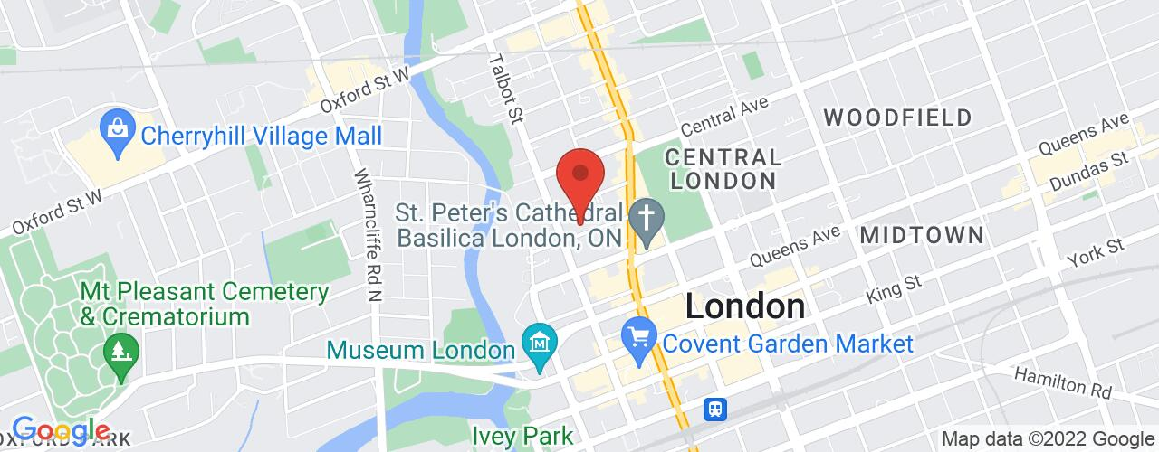 Google Map of Top Gun Burgers - Kensington
