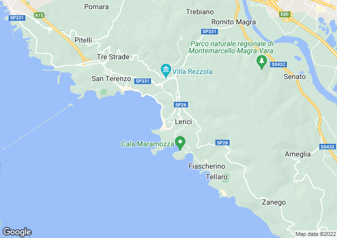 Map for Liguria, La Spezia, Lerici