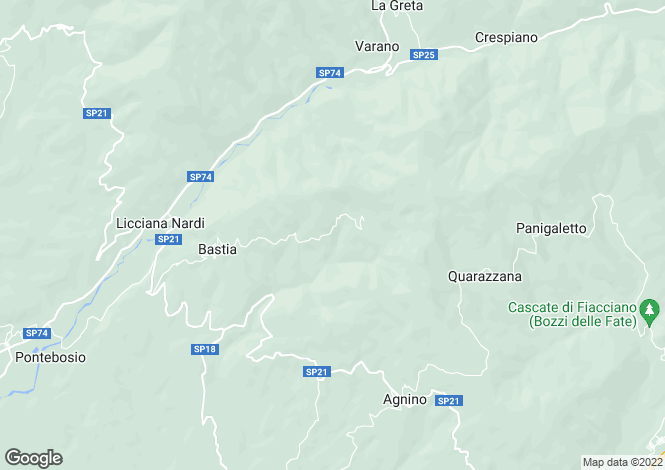 Map for Tuscany, Massa e Carrara, Licciana Nardi