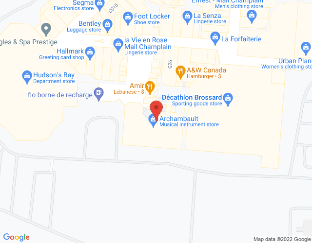 Google Map of Brossard