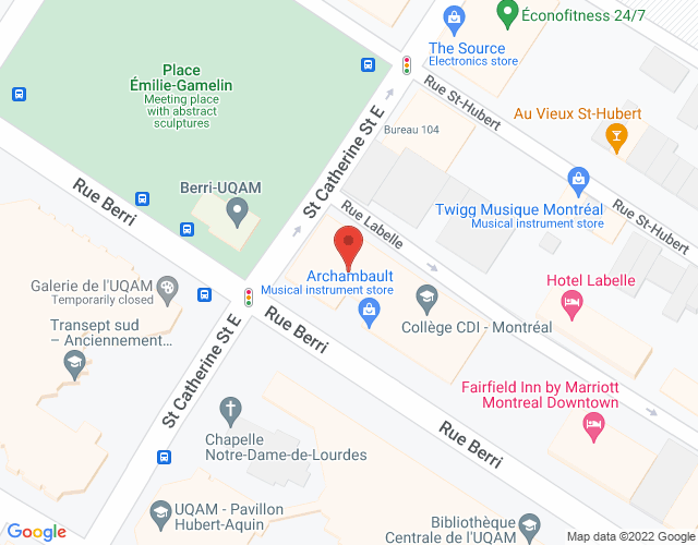 Google Map of Montreal - Berri