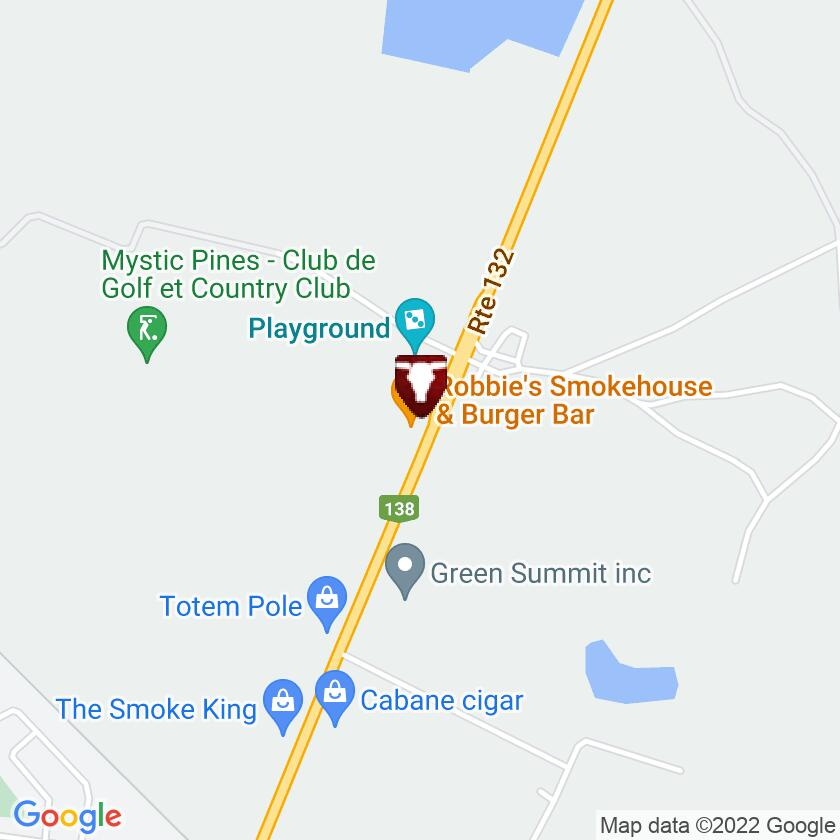 Google Map of Robbie's Smokehouse and Burgers