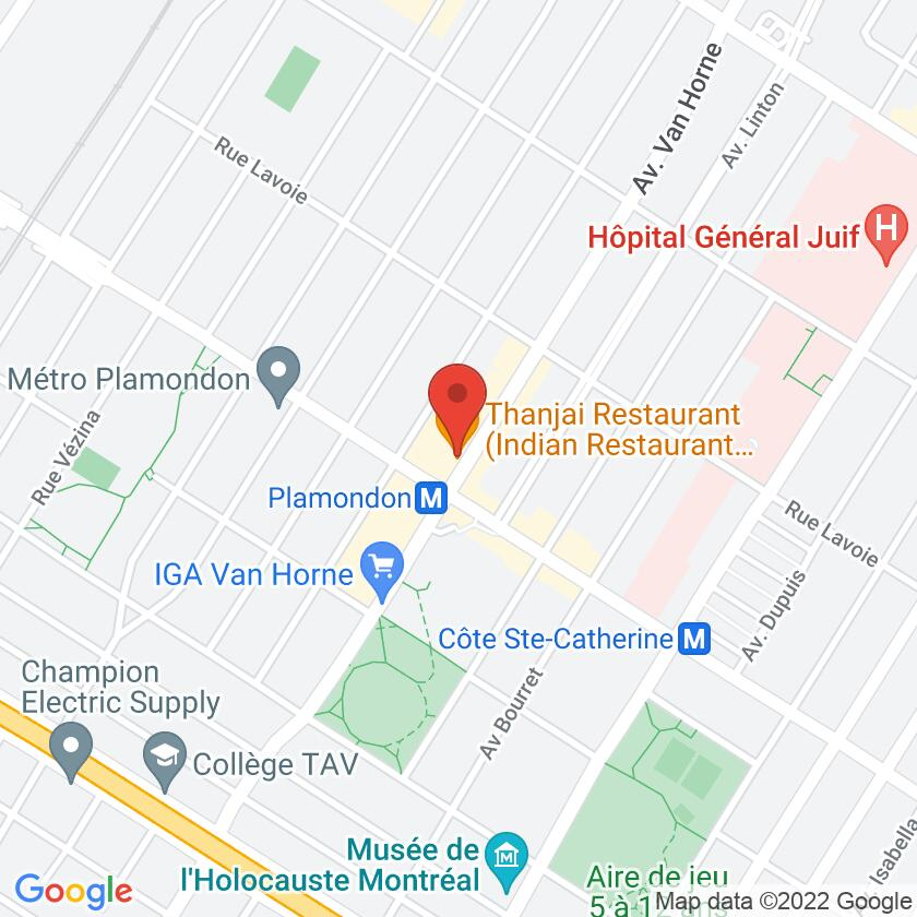 Google Map of Thanjai Restaurant