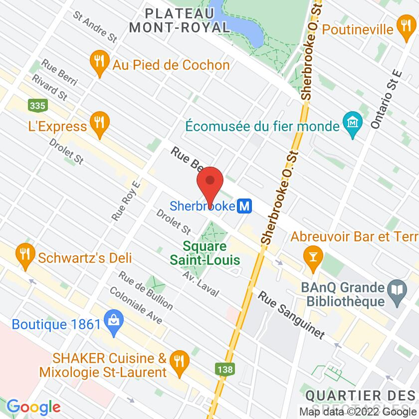 Google Map of Café Cherrier