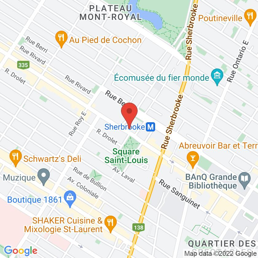 Google Map of Café Cherrier