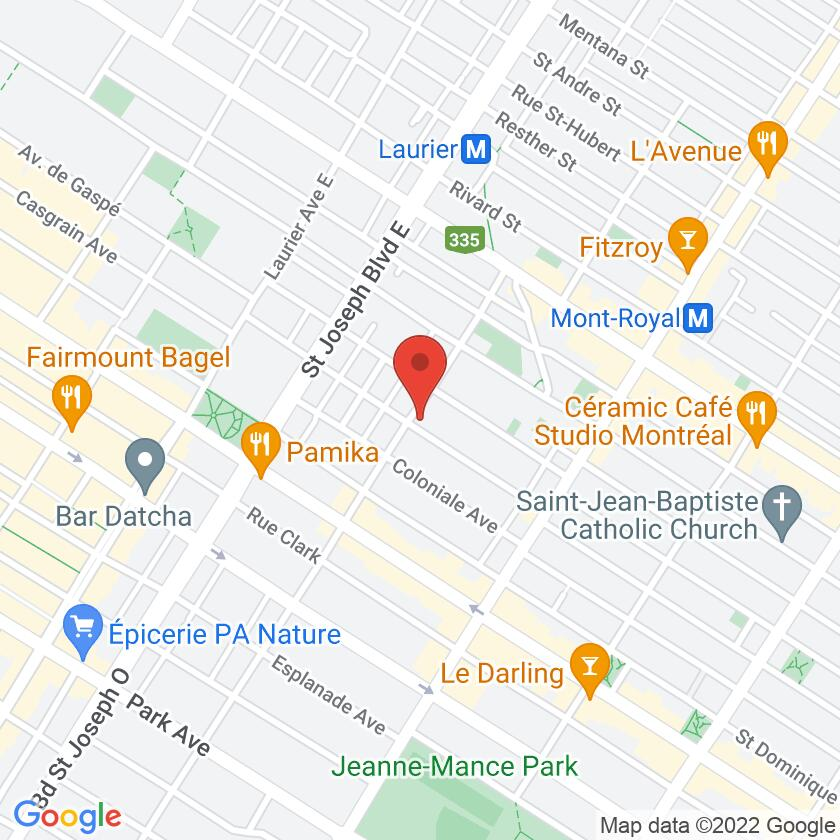 Google Map of Restaurant Rites Berberes