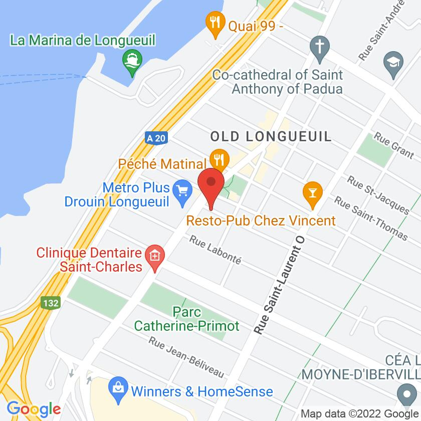 Google Map of Longueuil Pizza Restaurant