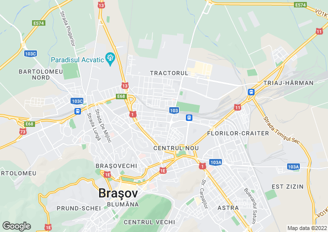 Map for Brasov, Brasov