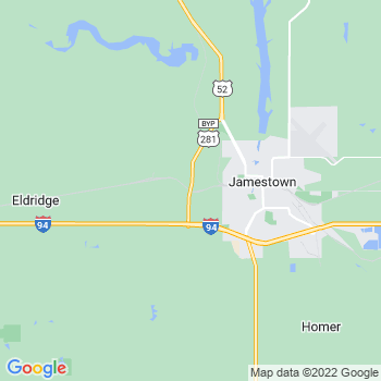 Jamestown,nd- map, population, zip codes, coutnies, area codes, time zones, households, income, news, weather, metro areas, local time at localistica.com