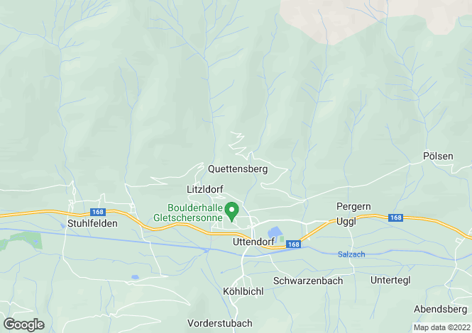 Map for Salzburg, Pinzgau, Uttendorf