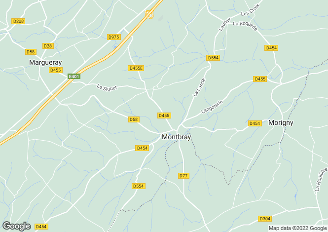 Map for Normandy, Manche, near Montbray