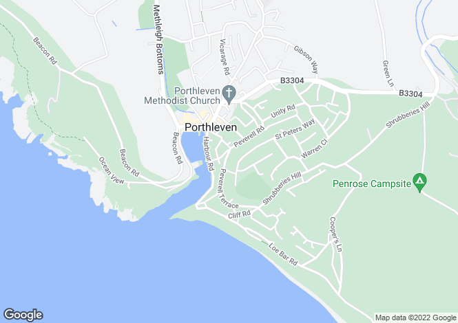 Map for Porthleven