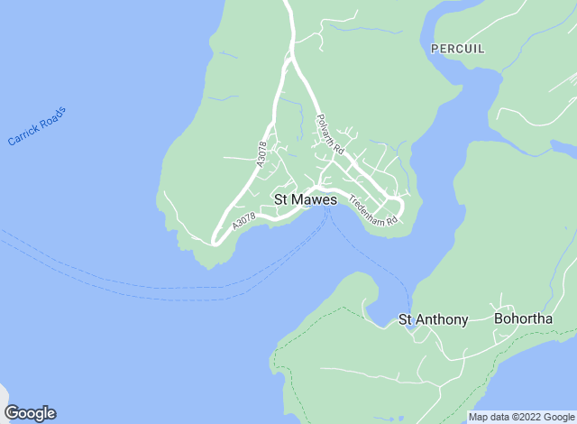 Map for Miller Countrywide, St Mawes