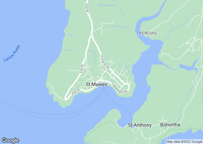 Map for St. Mawes,