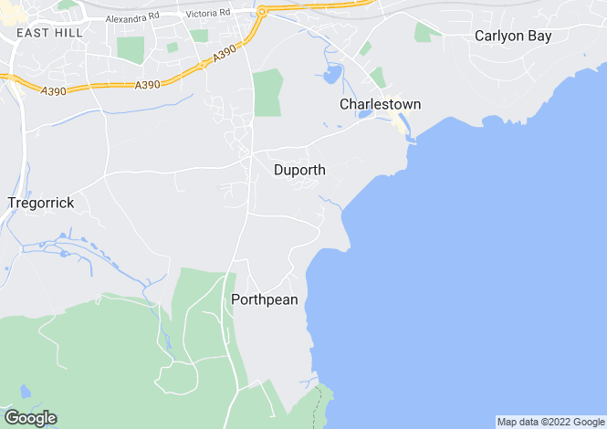 Map for Porthpean, St Austell, Cornwall