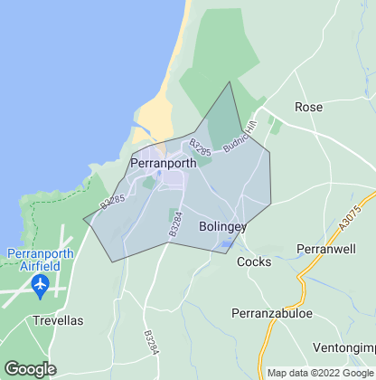 Map of property in Perranporth