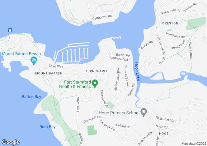 Map for Tapson Drive, Turnchapel, Plymouth PL9