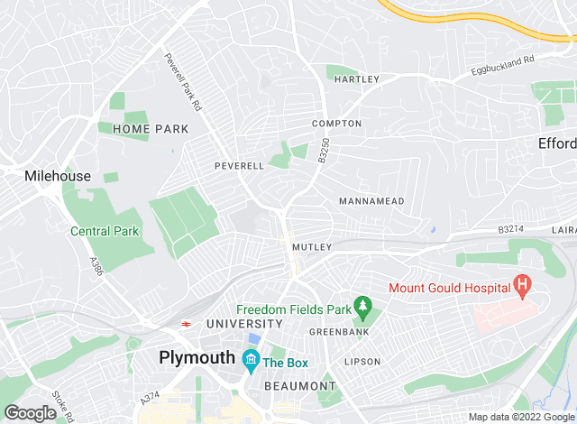 Map for YOUR MOVE, Plymouth